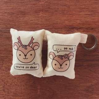 Valentine's Day Cute Deer Keychain for Couple (1 pair)