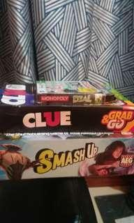 Smash Up, Monopoly Deal Card and Clue