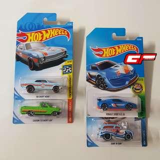 HOT WHEELS CHEVY NOVA GULF LOT COMBO