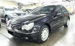 2003 Mercedes-Benz C240 ELEGANCE Automatic.Nopol DK-Bali.Orisinil SUNROOF.Elektrik SEAT.Jual Kondisi Pajak Apa Adanya
