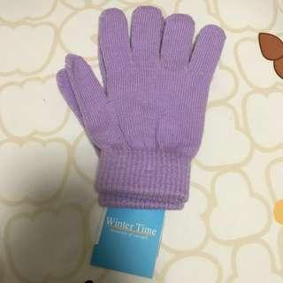 BNWT Winter Time Purple Knitted Gloves