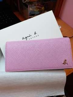 [New] Agnes b Wallet 經典啪鈕款長銀包