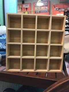 🚚 16格木製收納盒 陳列盒