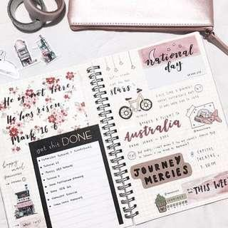 🚚 bullet journal grabbag!!