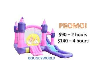 Bouncy Castle with slide and water play!