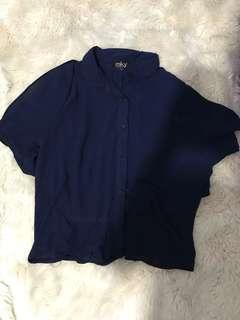 Navy blouse MKY