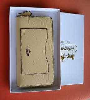 Authentic coach leather wallet