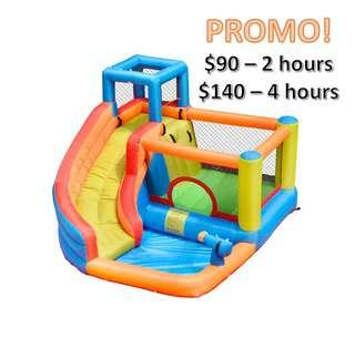 Bouncy Castle with slide & water play