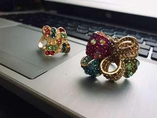 Colorful Studded Rings