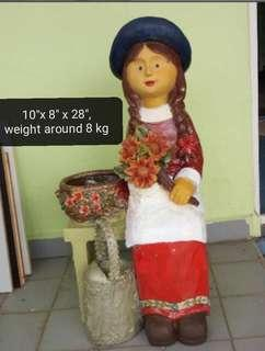 Wooden side decoration doll