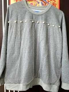 灰色珠珠紗衫