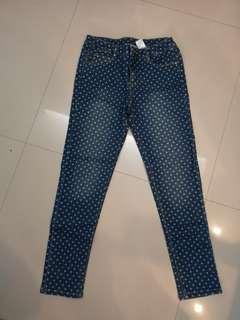 Good condition: Poney polka dot jeans