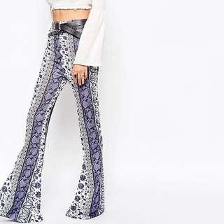 🚚 MISSGUIDED Boho Jersey Flare Trousers
