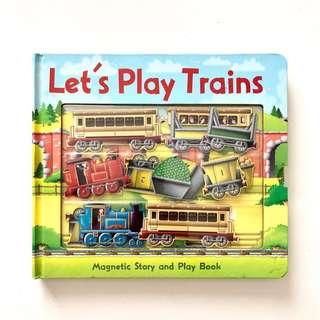 Let's Play Train - Magnetic Story and Play Book