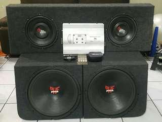 Subwoofer Set - Rockford Fosgate, 4 pieces