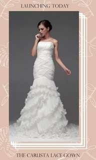 The Carlista Wedding Bridal Tube Lace Gown
