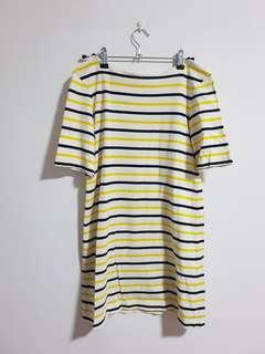 Yellow & black striped dress