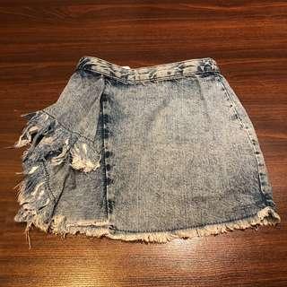 Zara Denim Frilled Skirt