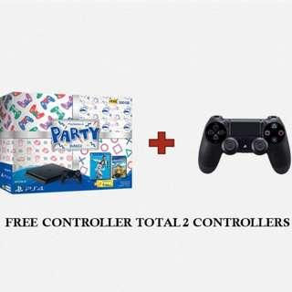 🚚 PS4 Slim 500GB Party Bundle With FREE 2ND CONTROLLER, Fifa 19 And Overcooked 2 (New)