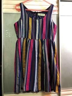 日牌LOVE GIRLS MARKET彩色民族繡織布紋連身背心傘裙