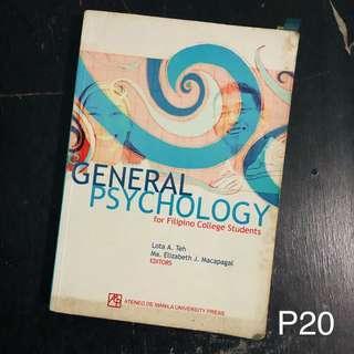General Psychology for Filipino Psychology Students
