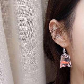 fish in a bag earrings