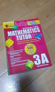 Secondary three mathematics tutor 3A special/express