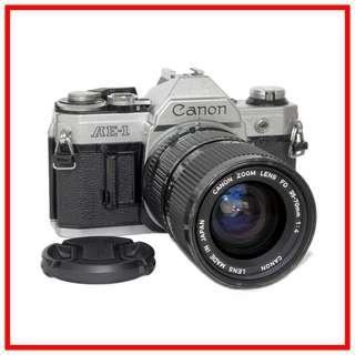 Canon AE-1 AE1 35mm Film Camera +  FD 35-70mm zoom lens