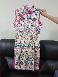 (BN) Floral CNY Cheongsam Dress