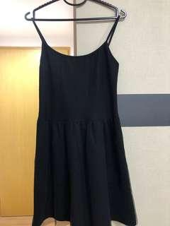 2 pieces - Top and mesh black dress