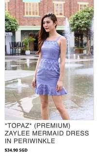 CNY sale! ZAYLEE MERMAID DRESS IN PERIWINKLE
