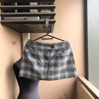 Grey a Plaid Skirt