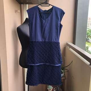 Paperdolls Navy Blue Dress
