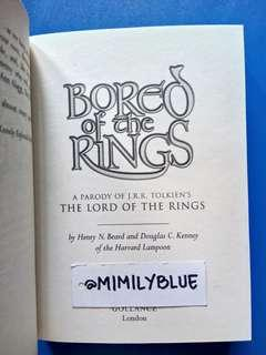 Bored Of The Rings (The Lord of The Rings Parody)