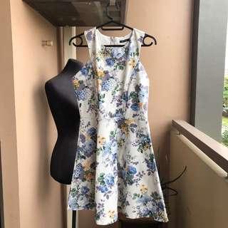 Black Sheep white floral dress