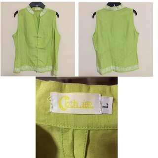 Wore 1x Only - Authentic Clothier Chinese blouse size L