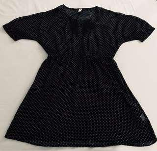 Black Dress - Polka Dots