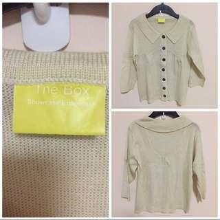 BN The Box knit blouse (free size)
