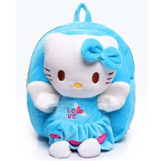 🚚 Kid Backpack - Hello Kitty Plush Toy Cartoon for kids favourite (Blue)