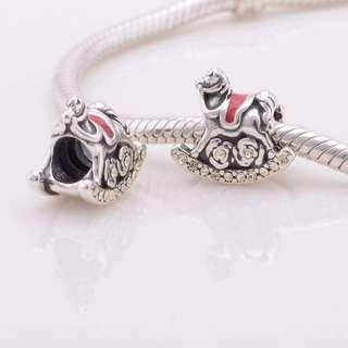 Code S116 - Rocking Horse 100% 925 Sterling Silver Charm compatible with Pandora