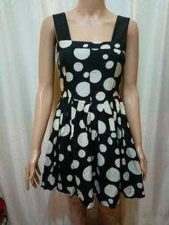 Polkadot Korean A-line Dress