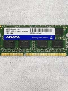 4GB DDR3-1600 Laptop Ram