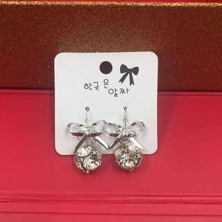 Earrings Ribbon Crystal