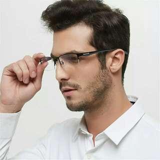 89dd7072bd Business Alloy Glasses Frame Men Flexible TR90 Temples Legs Optical  Eyeglasses Frames for Men Square Eyewear