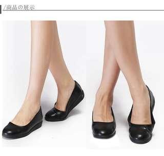 日本品牌 超舒服 黑色平底返工返學鞋