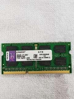 Laptop Ram 4GB KVR1333D3S9