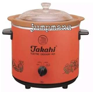 🚚 Takahi 2404 Slow Cooker 3.5L Red (FREE DELIVERY, Brand New)