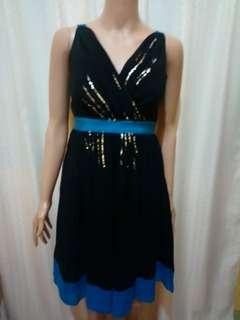 Moschino Black Sequin Dresd