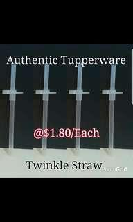 Instock Authentic Tupperware  Twinkle Straw  《Retail Price S$1.80/Piece》  Add 30cts Postage buy 2pcs free postage