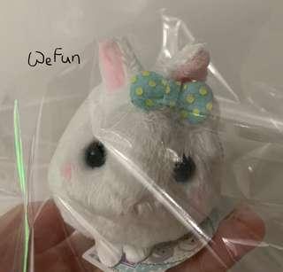 Amuse 可愛 白兔 兔仔 小吊飾 loppy